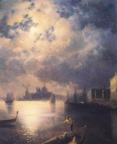 Armenian painter Ivan Ajvazovski , Byron in Venice Иван Айвазовский. Байрон в Венеции