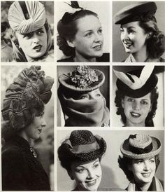 Vintage Hats from the 1920s-1950s                                                                                                                                                     More