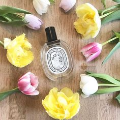 "// I am very much a ""musky"" perfume lover and although this still has a bit of musk about it it seemed a little lighter more floral and just more appropriate for the weather @diptique can do no wrong and the Do Son perfume is no exception #diptyque #springtime #springflowers #tulips #perfumecollection #fragrance"