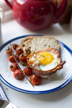 Breakfast Egg Cups...Baked eggs are a real treat and are well worth trying! | DonalSkehan.com