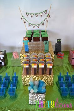 Partylicious: {Minecraft Birthday Party} love the idea of rock candy for diamonds