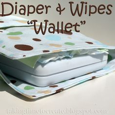 Sew your own diaper and wipes travel kit. So easy to put together!