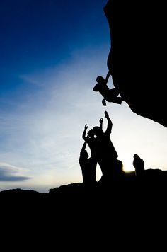 Rock climbing- being together and trust each other. that's what I love about it most.