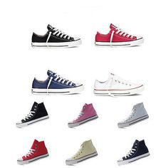b936e79bed3575 New Women Lady ALL STARs Fashion Low High Top shoes Casual Canvas ...