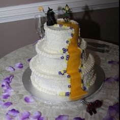 My 'Wicked' wedding cake.  :-)