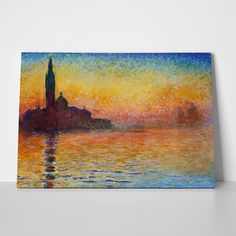 - Canvas Prints, Wall stickers, Wall murals, Home decoration and One Kings Lane, Monet, Dusk, Canvas Prints, San, Painting, Check, Decor, Dekoration