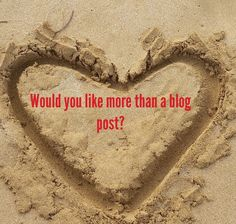 Would you like more than a blog post?