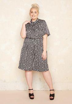 Boxy Print Culottes £55.00  Plus Size Fashion ♥ | One One Three | Sizes 18-26