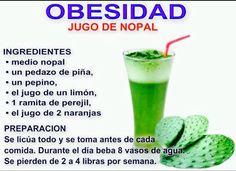 Obesidad Jugo de Nopal