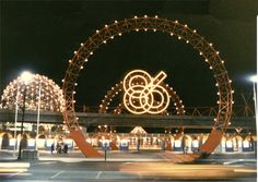 EXPO AT NIGHT -- Expo 86, Vancouver, British Columbia.