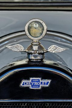 1915 Chevrolet Touring Hood Ornament - Car Photographs by Jill Reger