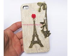 Eiffel TowerbirdowlletterIphone Case iPhone 4 Case by touchsoul, $10.99