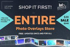 962 Photo Overlays Bundle + FREE UPD by Bundle Cat on @creativemarket