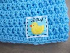 Just Ducky Blue Crochet Baby Hat by AngieHallHaviland on Etsy, $11.00
