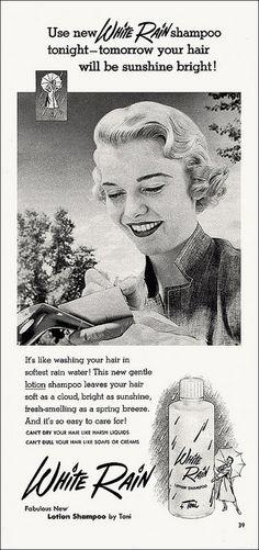 White Rain Shampoo Ad, 1953 by alsis35, via Flickr