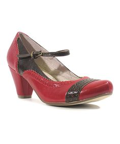 Look at this #zulilyfind! Red & Brown Mojito Pump by Chelsea Crew #zulilyfinds