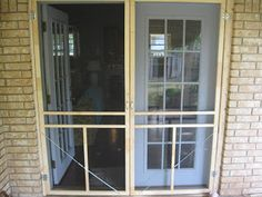 Screen door for french doors - June 01 2019 at Double Screen Doors, Double Patio Doors, French Doors With Screens, Diy Screen Door, Sliding French Doors, Sliding Screen Doors, French Doors Patio, Diy Door, Exterior Doors For Sale