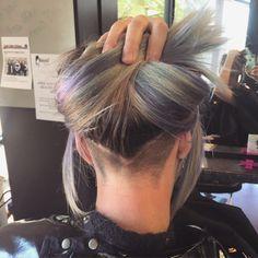 undercut with long hair v-shape