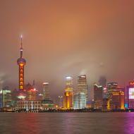 Gli altissimi grattacieli come espressione dello sviluppo economico cinese nella zona di Shanghai chiamata anche Pudong New Area