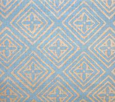 China Seas: Fiorentina - Custom New Blue on Tan Linen