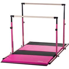 Nimble Sports Pink Parallel Bars with Pink and Black Folding Mat Combo *** Check this awesome product by going to the link at the image. (This is an affiliate link) Gymnastics Equipment For Home, Gymnastics Room, Sport Gymnastics, Gymnastics Things, Gymnastics Workout, Sports Equipment, Toys For Girls, Kids Toys, Star Wars Art