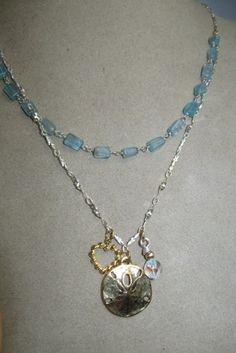 Apatite Gemstone, Sterling Silver Brass Charm Swarovski Necklace!! | GoGemCreations - Jewelry on ArtFire