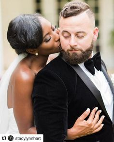 Beautiful interracial couple wedding photography #love #wmbw #bwwm                                                                                                                                                     More