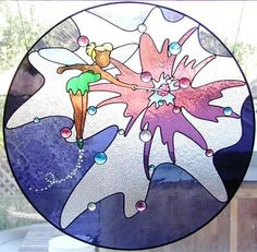 disney stained glass art | tinkerbell,tinkerbell stained glass,whimsical art