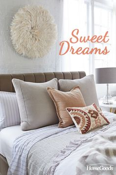 Make your bedroom into the sanctuary you deserve. With calming neutrals, soft and sophisticated bedding and minimalist design, you'll bring a light, airy look to your bedroom. Explore HomeGoods for one-of-a-kind, handcrafted home décor, at prices you can afford on any budget.