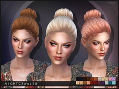 Trixie hair by Nightcrawler at TSR via Sims 4 Updates
