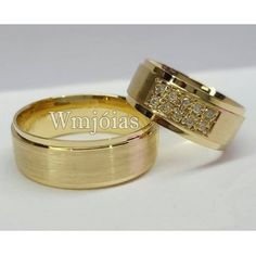 Foto Aliancas de ouro noivado e casamento WM2628