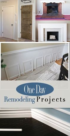 One Day Remodeling Projects ? How to update your home in just one day! DIY projects you can do with an afternoon to improve the value of your home! Home Improvement Projects, Home Projects, Apartment Projects, Craft Projects, Home Renovation, Home Remodeling, Home Repairs, Decorating On A Budget, Diy Home Decor