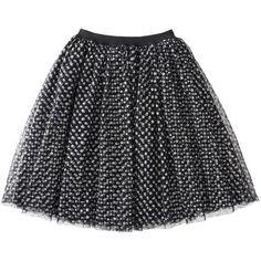 Harajuku Mini for Target Girls' Glitter Skirt Black Cat (50.365 COP) ❤ liked on Polyvore