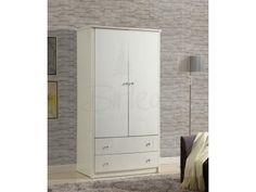 Birlea Aztec 2 Door 2 Drawer Wardrobe available in high gloss black or white finishes £435.00