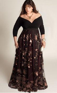 Robe longue pour femme ronde pas cher   Sveikuoliai 52ad2db8e1ce