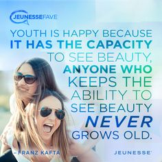 Youth is happy because it has the capacity to see beauty, anyone who keeps the ability to see beauty never grows old.  -Franz Kafta