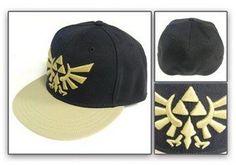 5ef6f904f1b Legend of Zelda  Black Triforce Snapback Flat Bill Hats