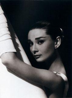 Audrey Hepburn   black and white photography