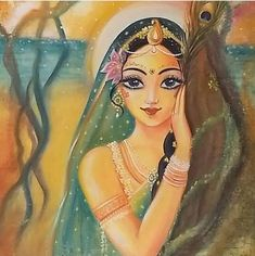 How a living entity becomes a victim of the material condition is lucidly explained in this verse. The beginning is to misidentify the body… Radha Krishna Pictures, Radha Krishna Photo, Krishna Art, Lord Krishna, Shiva, Shree Krishna, Indian Women Painting, Indian Art Paintings, Radhe Krishna Wallpapers
