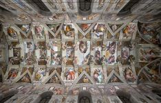The Sistine Chapel, painted by Michelangelo, has a new lighting system LE and air conditioning to keep cool. The 7,000 points of light left unshaded areas. In the picture, the vaulted ceiling of the Vatican masterpiece.