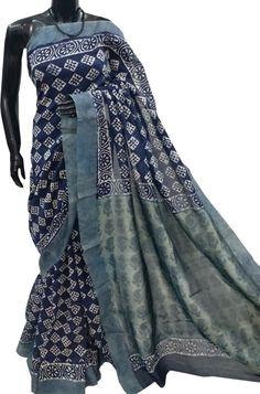 Shop For Blue Kalamkari Hand Block Printed Ghicha Silk Saree With Floral Cubes Design Online. Shop more Ghicha Silk Saree at Luxurionworld. Kalamkari Saree, Silk Sarees, Cube Design, Cotton Textile, Saris, Fine Hair, Cubes, Printed Cotton, Floral