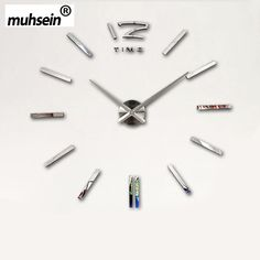 Muhsein New 2016  Home Decoration / DIY Wall Clock Wall Clocks Large Stickers Mirror  Wall Clock Wanduhren  Relojes De Pared ** Read more at the image link.