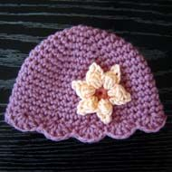 Crochet Beginner Scallop Hat from Preemie to Adult free pattern.