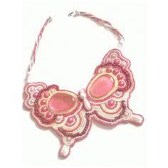 Pillangó, Nyaklánc, Ékszer, Jewelry, Bead embroidery