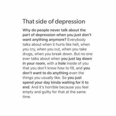 """Quote by: Morgan """"Mental Illness Recovery Series"""" book contains 100 true life stories of people all around the world battling daily with their mental disorders. It's an inspirational book 📖, that. Sad Quotes, Life Quotes, Numb Quotes, Lonely Quotes, People Quotes, Qoutes, Mental Illness Recovery, Depression Quotes, Mental Disorders"""