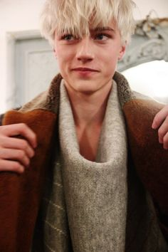 Lucky Blue Smith by Jae Foo - Backstage at Billy Reid, FW15