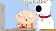 Stewie and Brian grossed out, via YouTube.