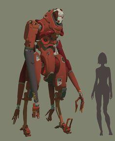 ArtStation - New robot #1, Mikhail Rakhmatullin