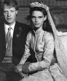 Charles Spencer (Princess Diana's brother) and Victoria Lockwood Wedding. . Love the off-center photo also; so cool.