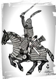Chinese Tang Dynasty Cataphract warrior Military Drawings, Tribal Warrior, Ancient China, Tibet, Medieval, Art Drawings, Random Stuff, Empire, Korea